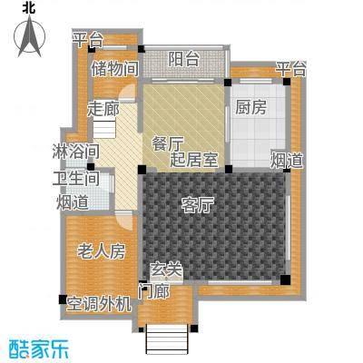 九江碧桂园户型1室1卫1厨