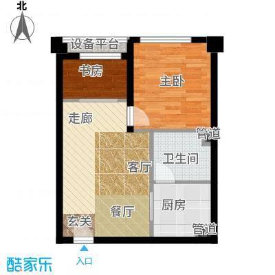 清流水韵50.00㎡单身公寓 清流新贵户型1室1厅1卫