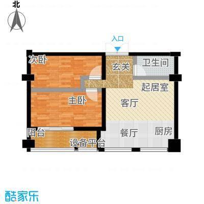 仪邦广场户型2室1卫