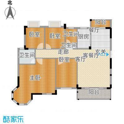 联泰棕榈庄园174.60㎡洋房K户型4室2厅2卫