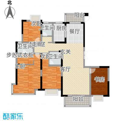 南昌莱蒙都会168.00㎡高层阔景四房户型4室2厅3卫