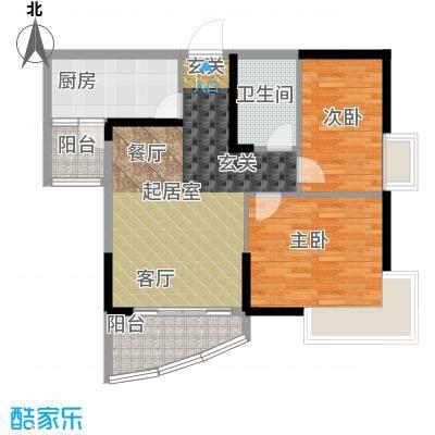 碧桂园公园1号82.00㎡8街3号 205户型2室2厅1卫