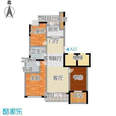 绿城百合公寓户型3室1厅2卫1厨