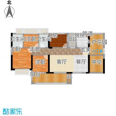 T PARK时尚公园132.00㎡D户型132平米4房2厅2卫户型4室2厅2卫