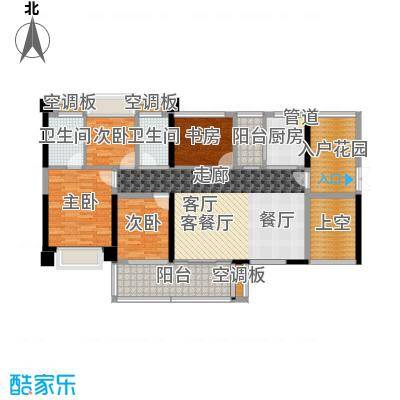T PARK时尚公园135.00㎡凡高公馆D户型4房2厅2卫-135㎡户型4室2厅2卫