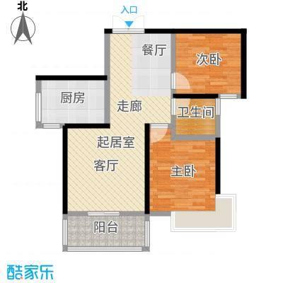 黄山府邸户型2室1卫1厨