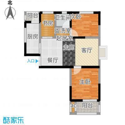黄山府邸户型3室1卫1厨