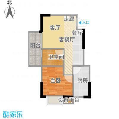 赛达国际50.00㎡B3户型 1室2厅1卫户型1室2厅1卫