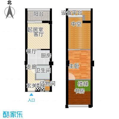 金艺百汇广场60.00㎡B户型2室2厅2卫