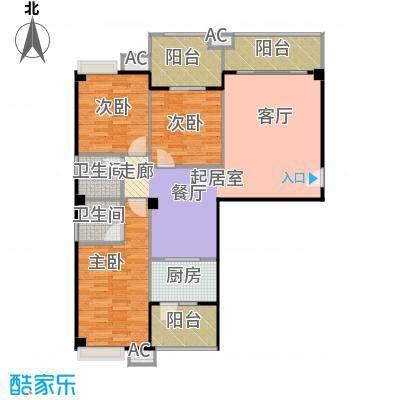 丽都中央公馆113.80㎡F2户型3室2厅2卫