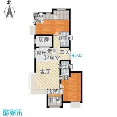 金辉天鹅湾141.00㎡A户型 三室两厅两卫户型3室2厅2卫