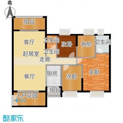 锦江国际新城134.00㎡9-10栋03单位户型4室2厅2卫