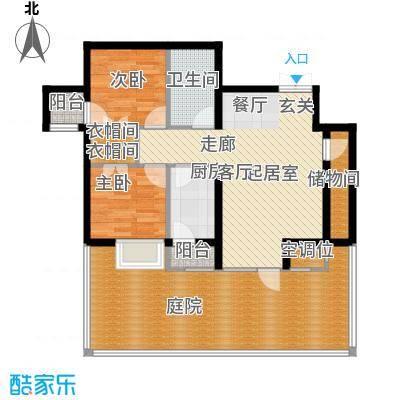 学府・未来城14号楼E户型 两室两厅一卫户型2室2厅1卫