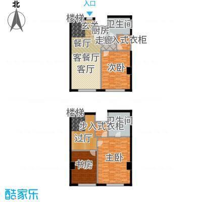 皇朝万鑫国际大厦200.00㎡三室二厅二卫二储户型