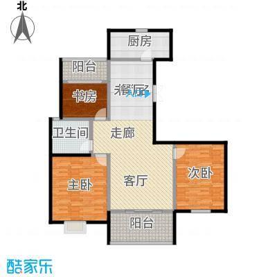 提香湾户型3室1卫1厨