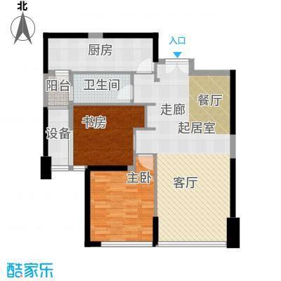 华润万象城110.00㎡2号楼雅悦D户型两室两厅一卫户型2室2厅1卫