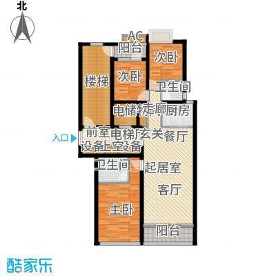 鲁商中心150.00㎡5#楼C户型三室两厅两卫户型