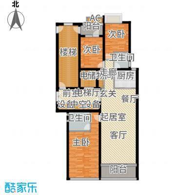 鲁商中心150.00㎡二期5、6#楼C户型3室2厅2卫