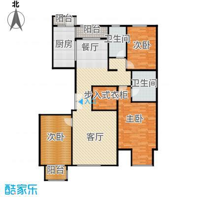亿利城文澜雅筑156.89㎡户型3室2厅2卫