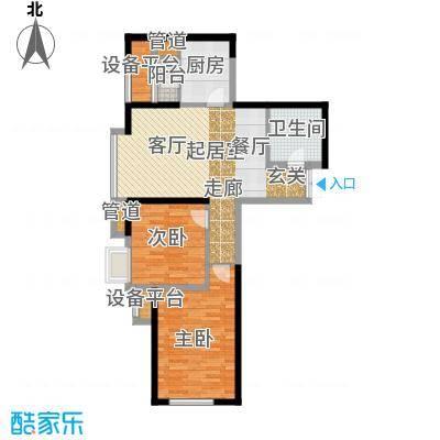金融街和平中心108.00㎡G平米户型2室2厅1卫