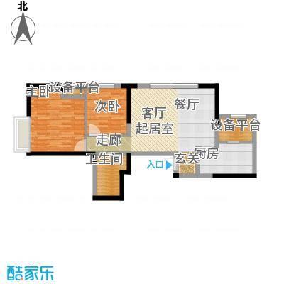金融街和平中心93.00㎡J平米户型2室2厅1卫