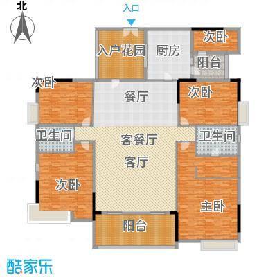 时代广场350.00㎡户型图 5室3厅3卫户型5室3厅3卫