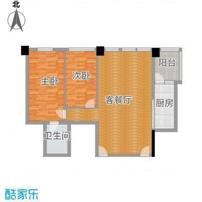 时代广场127.00㎡二号楼5-34层户型 一室两厅一卫户型