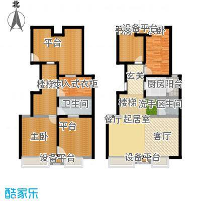 尚郡翠林苑户型9号楼C6+跃层-190-285 2-2户型