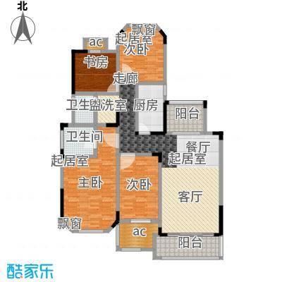 城置金色年华138.00㎡D户型四室两厅两卫 138㎡户型2室2厅2卫