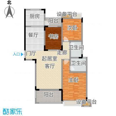 大润发广场126.21㎡1号楼户型3室2厅2卫
