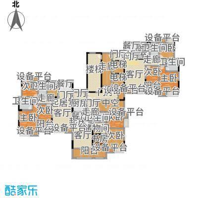 大润发广场3#楼二单元户型鉴赏户型