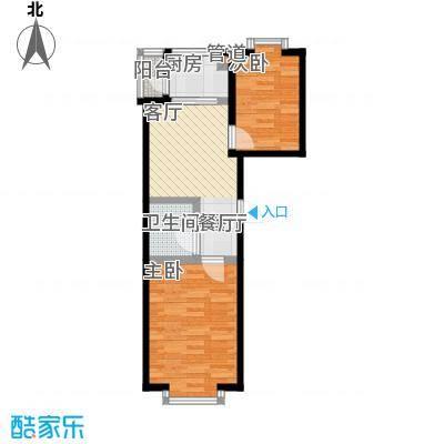 时尚派39.11㎡两室一厅一卫 使用面积39.11/44.70平米户型2室1厅1卫