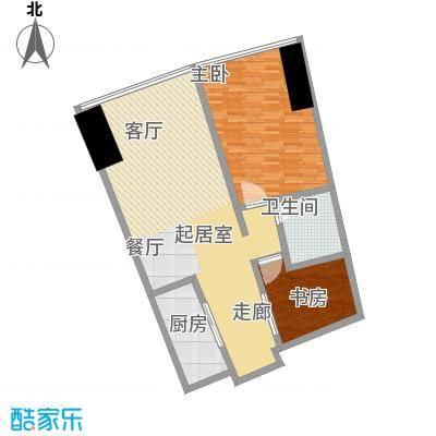 世茂海峡大厦111.26㎡E户型