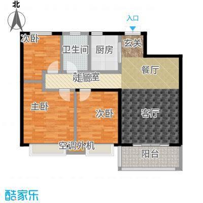 九江曼城户型3室1卫1厨