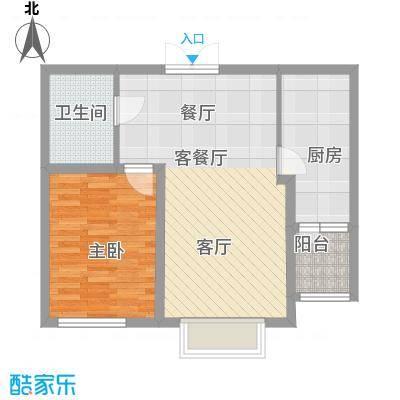 宏润・翠湖天地58.46㎡户型10室