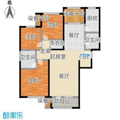 隆河谷二期131.26㎡GB-3户型 三室二厅二卫户型3室2厅2卫