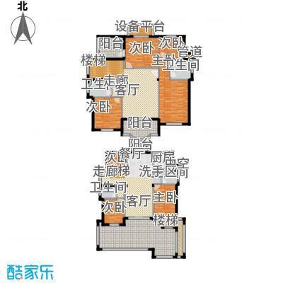 星海绿苑233.69㎡E户型 建面约233.69平米户型7室3厅4卫