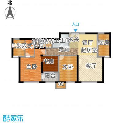 金地紫云庭139.56㎡住宅D3户型3室2厅2卫