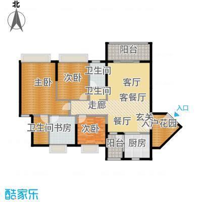 锦江国际新城136.00㎡9-10栋02单位户型4室2厅2卫
