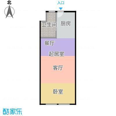 协鑫鑫尚49.68㎡协鑫鑫尚平层户型1室1厅1卫