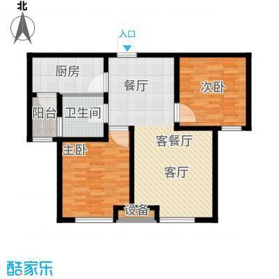 通用富馨佳苑93.48㎡C2户型2室2厅1卫
