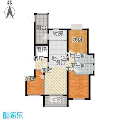 华明星海湾138.63㎡G户型3室2厅2卫