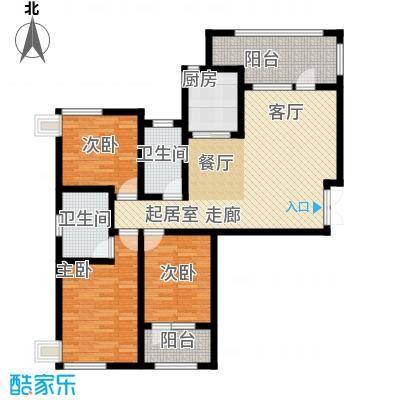 天马相城125.01㎡17号楼C户型3室2厅2卫