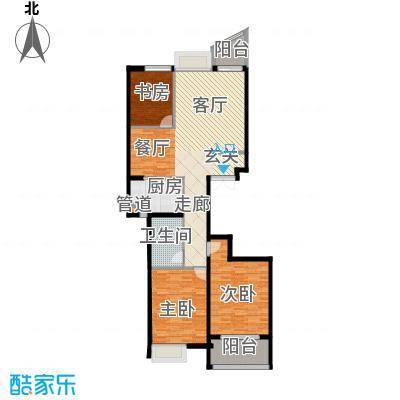 金桥澎湖湾113.00㎡18、21#B户型3室2厅1卫