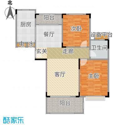 碧桂园凰城90.00㎡C16-1户型 2室2厅1卫户型2室2厅1卫