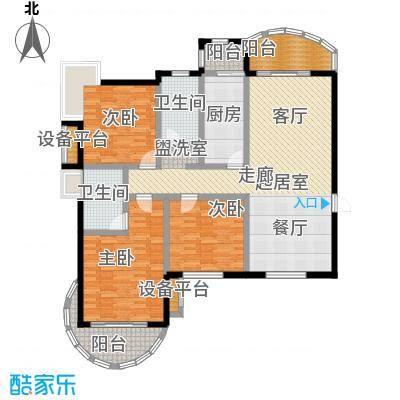 天马相城125.50㎡三期11号楼户型3室2厅2卫