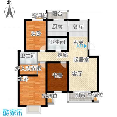 津品鉴筑A1-三室二厅二卫129.82-132.24平米户型