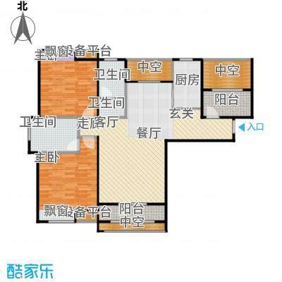 紫阳楚世家户型2室1厅2卫1厨
