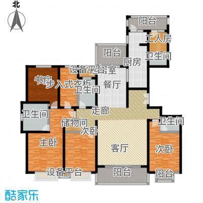 天马相城258.45㎡二期10号楼户型5室2厅4卫