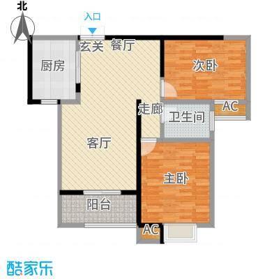 黄冈江山如画LL户型2室1卫1厨